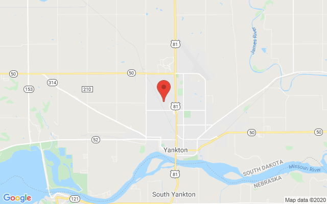 Map of Kaiser Heating and Cooling in Yankton, South Dakota